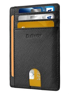 3. Buffway Slim Minimalist Front Pocket Wallet