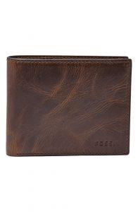 Fossil Men's Derrick Leather Bifold Wallet