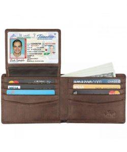 HIMI Leather ID Window Bifold Wallet