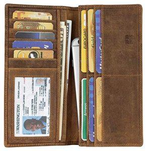 Mou Meraki Vintage Genuine Leather Long Wallet