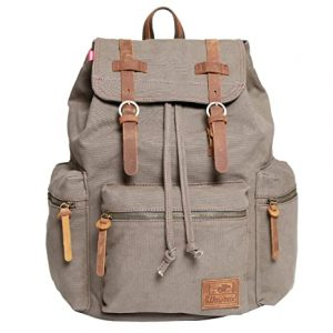 Wowbox Canvas Backpack Vintage Leather