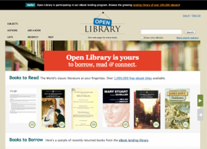 Open Library EBook Web sites