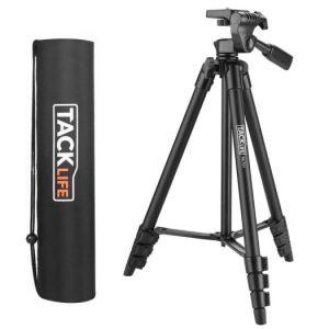 TACKLIFE 55″ Lightweight Aluminum Tripod Best Tripod for DSLR Cameras