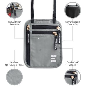 Zero Grid RFID Blocking Neck Wallet