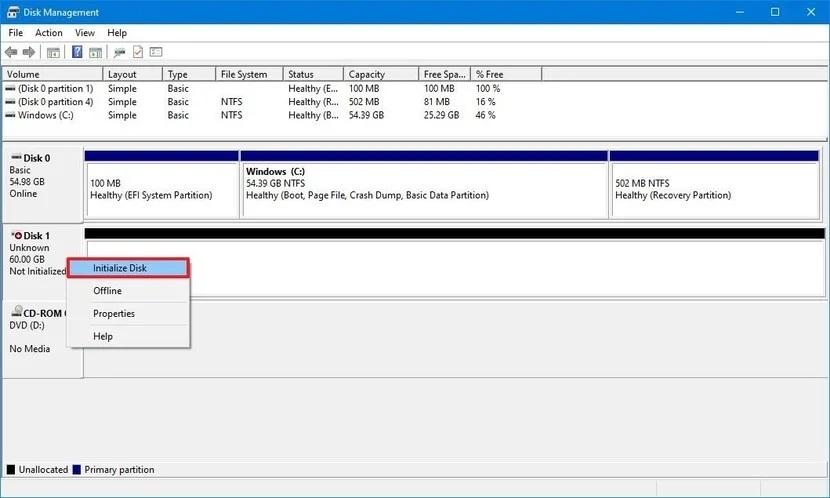 format hard drive windows 10