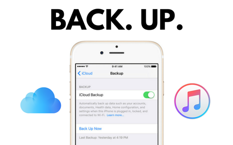 how to backup iphone 7