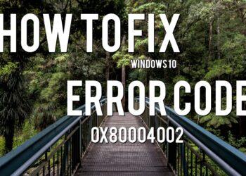 error 0x80004002