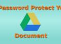 password protect google doc