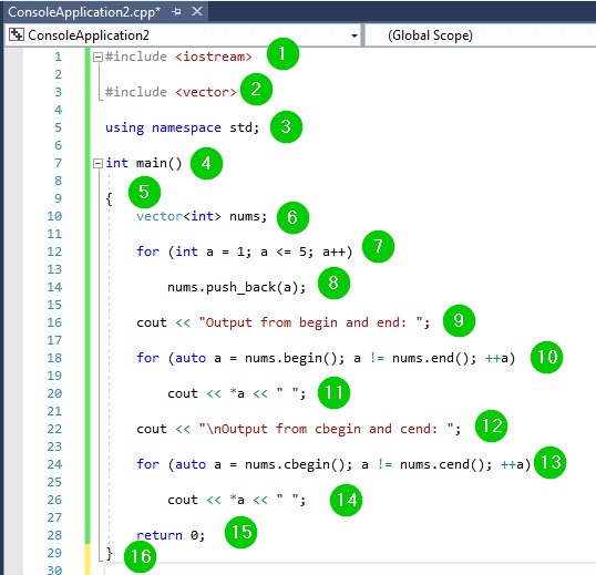 initialize vector c++