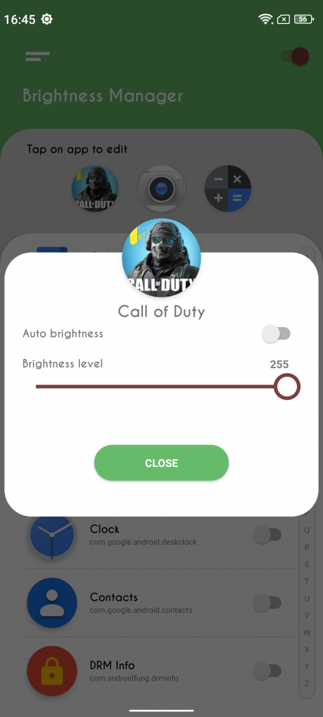 auto brightness app for android