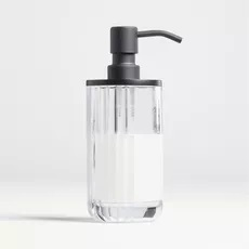Crate & Barrel Ribbed Glasses Soap Pump