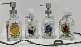 Wild Thyme Botanicals Pressed Flower Soap Dispenser