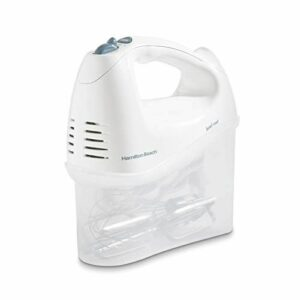 6-Speed Electric Hand Mixer with Snap On Storage Case