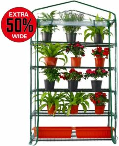 Worth Extra Wide 5 Tier Mini Greenhouse