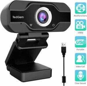 TedGem 1080P PC Webcam
