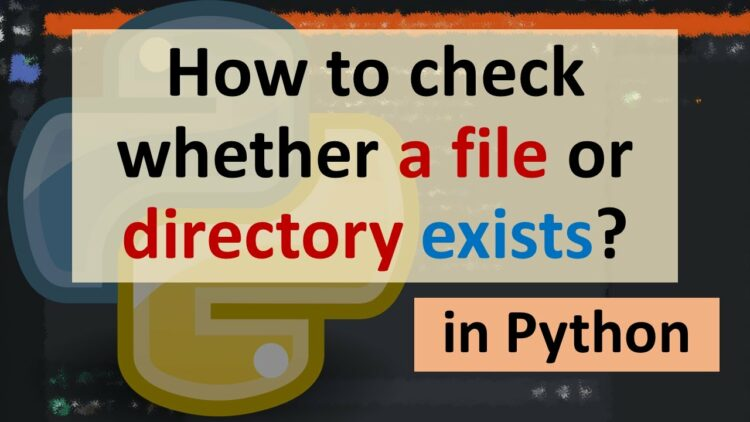 python file exists