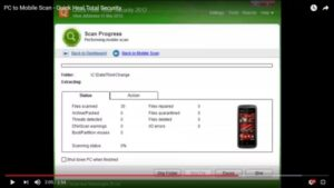 how to scan phone for virus using pc