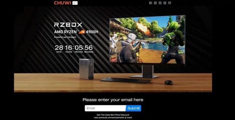 RZBOX - World's First AMD RYZEN 4900H Mini PC Revealed - CPU Test